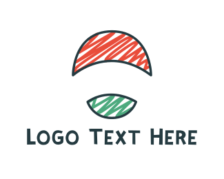 Draw - Round Flag logo design