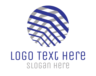 Business Software - Textured Business  Circle logo design