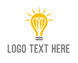 Innovation - Bright Yellow Light Bulb logo design