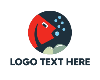 Fish - Red Fish logo design