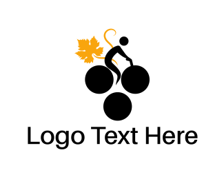 Bicycle - Grape Bike logo design