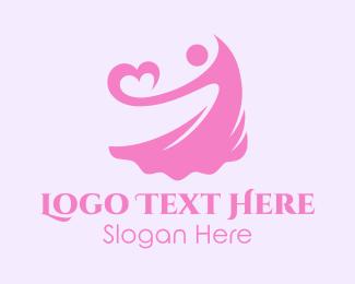 Dress - Lady Heart logo design