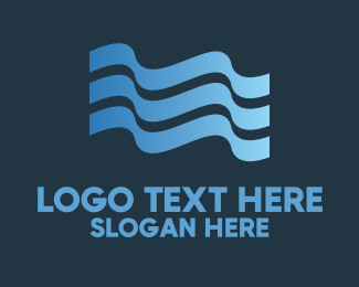 Pool - Water Flag logo design