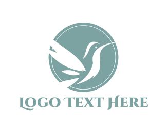 Wellness - White Hummingbird logo design