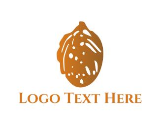 Nut - Brown Almond logo design