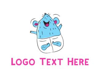 Diaper - Baby Mouse logo design