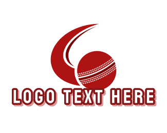Varsity - Red Cricket Ball logo design