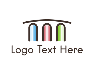School - Book Bridge logo design