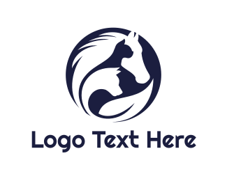 Creature - Circle Animal Outline logo design