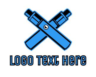 Vape - Blue Mechanical Vape logo design