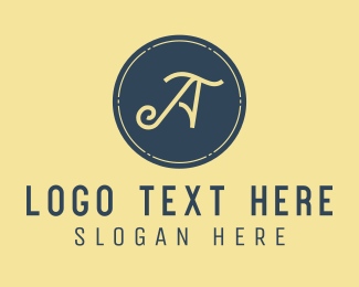 Text - Small Business Letter A logo design