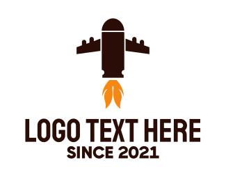 Missile - Bullet Plane logo design