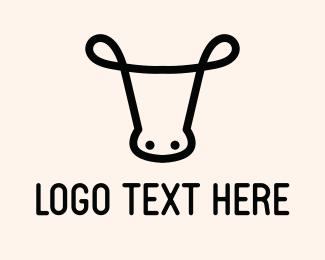 Bovine - Minimalist Cow logo design