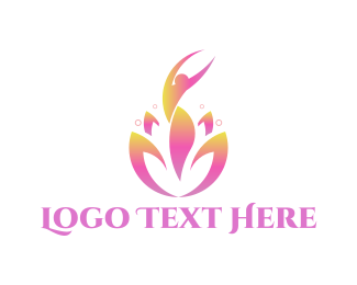 Yoga - Feminine Flower logo design