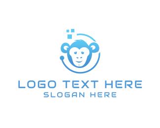 Monkey - Tech Monkey logo design