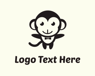 Adorable - Black Monkey logo design