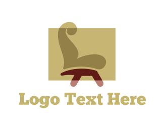 Decorative - Brown Chair logo design