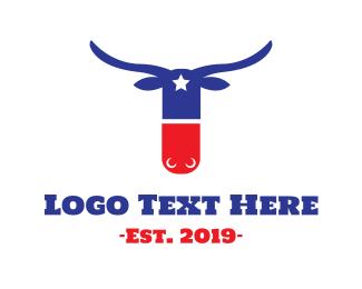 Texas State - Texas Pill logo design