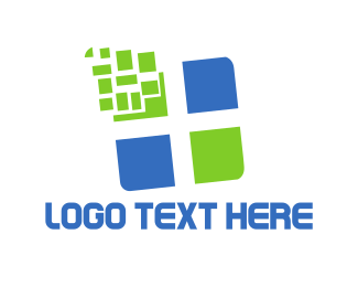 Pixel - Tech Cross logo design