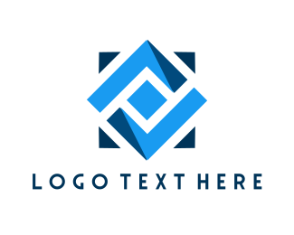 Geometric - Geometric Blue Tile logo design