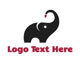 Painter - Elephant Painter logo design