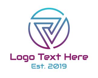 Machinery - Modern Sharp Vertigo  logo design
