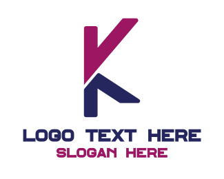 Programming - Pink Blue K logo design