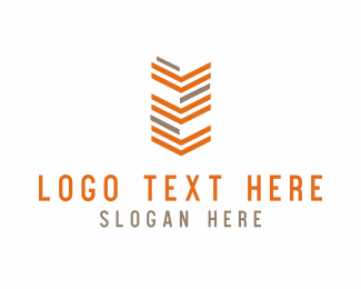 Navy - Orange Arrows Army logo design