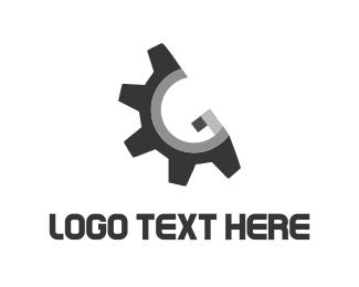 Screw - Metallic Gear logo design
