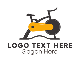 Cycling - Exercise Bike logo design