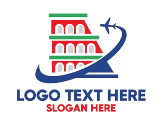 Airline - Italian Airline  logo design