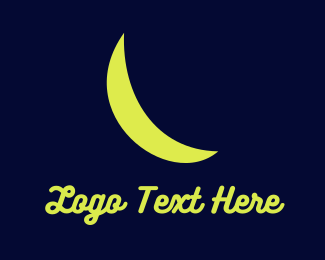 Lunar - Crescent Moon  logo design