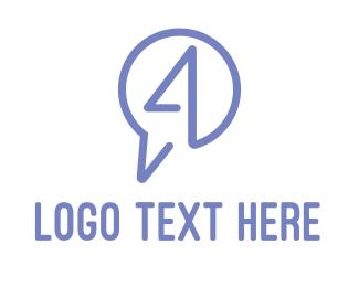Sms - Messaging Number 4 logo design
