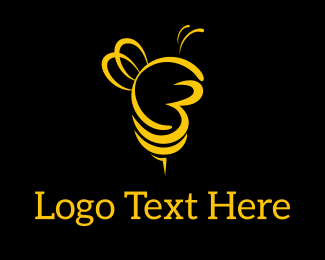 Typography - City Bees logo design