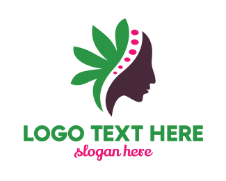 Green Leaf Female Logo