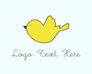 Dainty - Yellow Bird  logo design