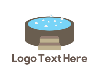 Restroom - Hot Tub logo design