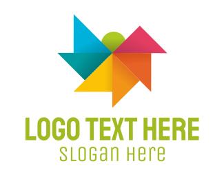 Landscape - Origami Landscape logo design