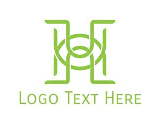 Letter U - H & U logo design
