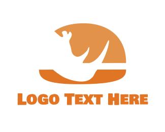 Rhino Burger  Logo