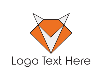 Fox - Geometric Fox logo design