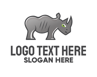 Safeguard - Rhinoceros Cartoon logo design