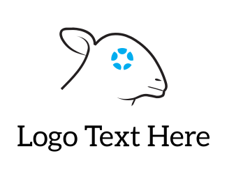 Lamb - Cyber Sheep logo design