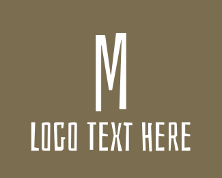 Budget - Brown Letter M logo design