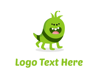 Antenna - Cute Monster logo design