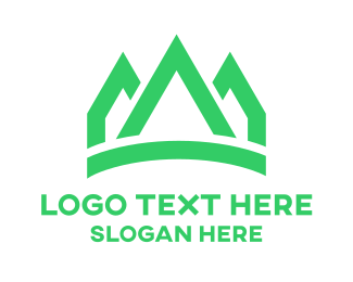 Strong - Green Peaks Crown logo design