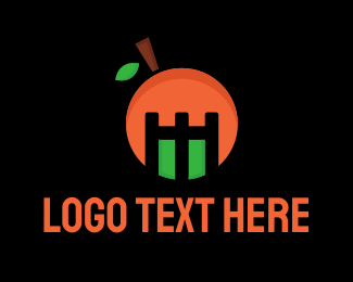 Salad - Orange Mascot logo design