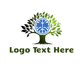Psychology - Brain Tree logo design