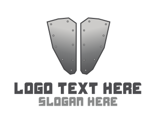 Gladiator - Iron Armour logo design