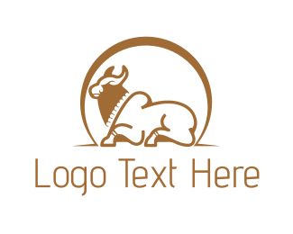 Cattle - Brown Bull logo design